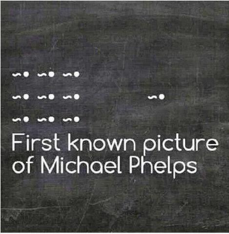 First known pix of Michael Phelps