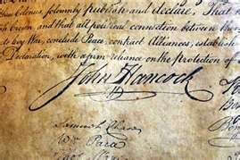 John Hancock's Sig on Declaration of Independence