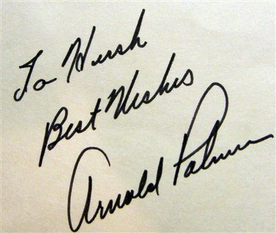 R.I.P. Arnold Palmer- Sweet Story about his Handwriting