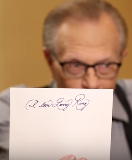 Meghan Markle's Handwriting on Larry King Show