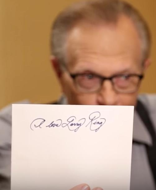 Meghan Markle's Handwriting on Larry King Show